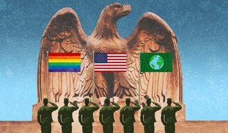 America's Woke Military Illustration by Greg Groesch/The Washington Times