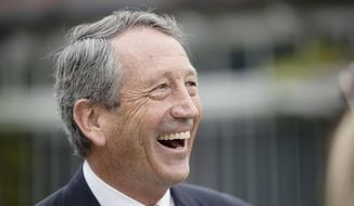 Republican presidential candidate, former South Carolina Gov. Mark Sanford speaks on Independence Mall in Philadelphia, Wednesday, Oct. 16, 2019. Sanford, the former South Carolina governor, congressman and one-time presidential candidate, is going to work for a lobbying firm. Shumaker Advisors announced Tuesday, March 30, 2021, that Sanford would be joining the firm, working from Charleston. (AP Photo/Matt Rourke)