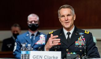 Gen. Richard D. Clarke told the Senate Armed Services Committee how Special Operations Command is turning its focus from fighting terrorism to countering new threats from China. (Associated Press)