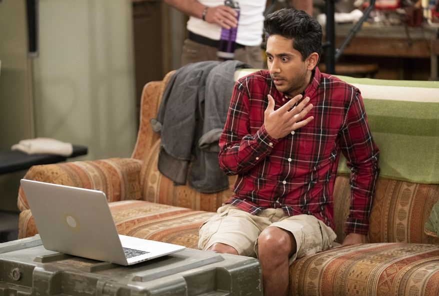 """In this image provided by CBS, Adhir Kalyan as Al appears in a scene from """"United States of Al."""" (Erik Voake/CBS via AP)"""