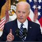 President Biden hasn't been governing as a moderate, professor emeritus Charles Lipson wrote recently about the president. (Associated Press)