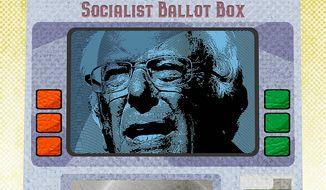 Socialist Ballot Box Illustration by Greg Groesch/The Washington Times