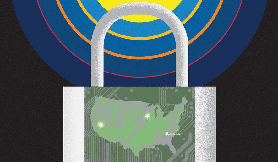 Protection from Infrastructure EMP Disaster Illustration by Linas Garsys/The Washington Times