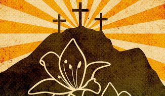 Easter Resurrection Illustration by Greg Groesch/The Washington Times