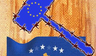European 'Rule of Law' Illustration by Greg Groesch/The Washington Times
