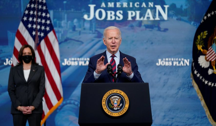 President Biden is facing pressure from all sides on the Pentagon's budget. Some fellow Democrats want him to increase military spending. Others want to slash it. (ASSOCIATED PRESS)  **FILE**