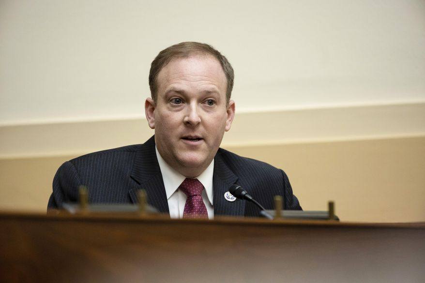 In this March 10, 2021, file photo, Rep. Lee Zeldin, R-N.Y., speaks during the House Committee on Foreign Affairs hearing on the administration foreign policy priorities on Capitol Hill in Washington. Zeldin has announced his candidacy for governor of New York. Zeldin launched his campaign Thursday, April 8, with an attack on incumbent Democrat Andrew Cuomo. (Ting Shen/Pool via AP, File)