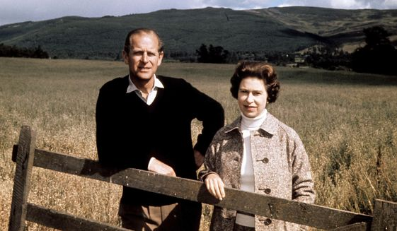 FILE - In this Sept. 1, 1972 file photo, Britain's Queen Elizabeth II and Prince Philip pose at Balmoral, Scotland, to celebrate their Silver Wedding anniversary. Prince Philip, the irascible and tough-minded husband of Queen Elizabeth II who spent more than seven decades supporting his wife in a role that both defined and constricted his life, has died, Buckingham Palace said Friday, April 9, 2021. He was 99. (PA via AP, File)