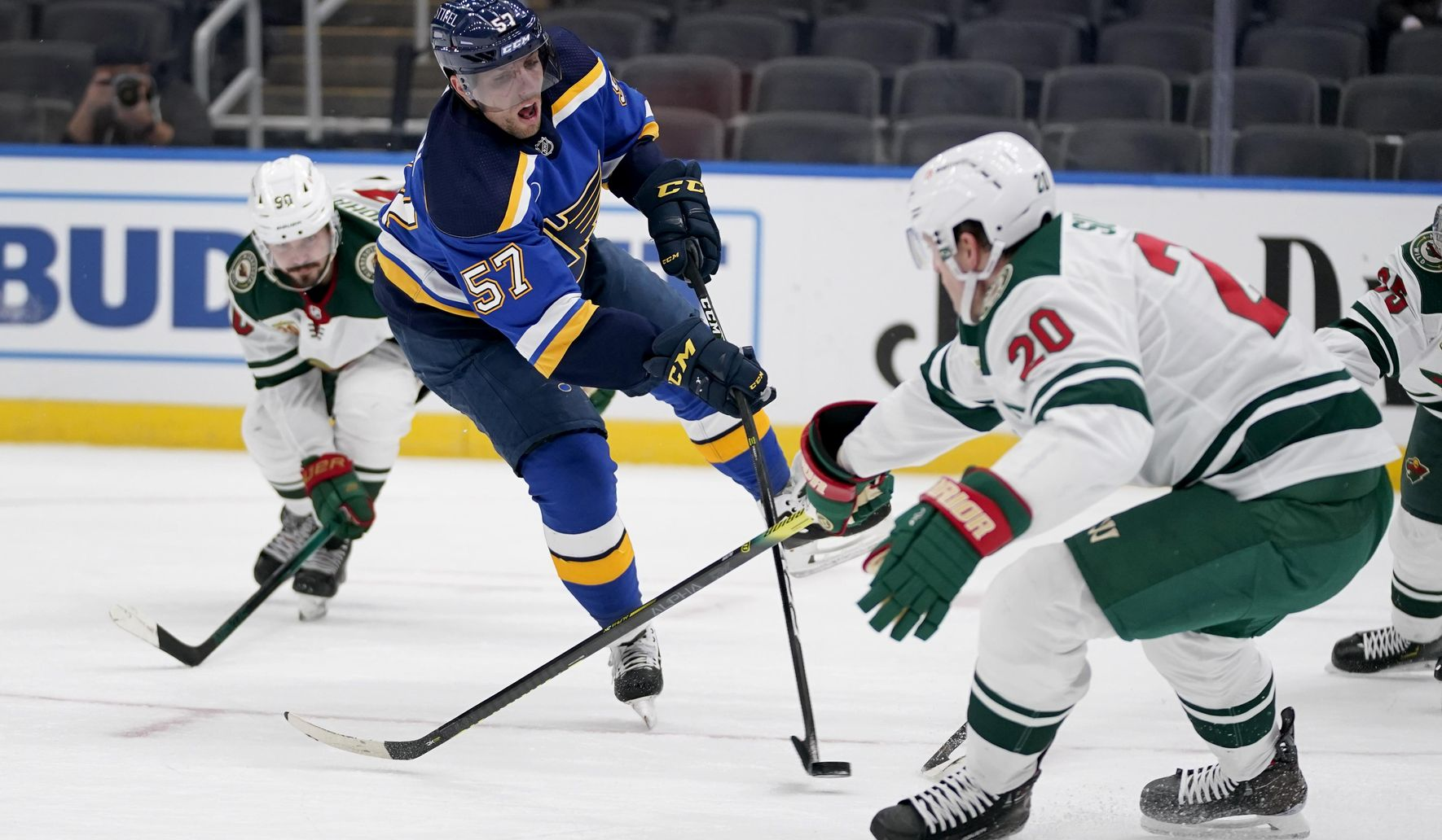 O'Reilly has 3 goals and an assist, Blues beat Wild 9-1
