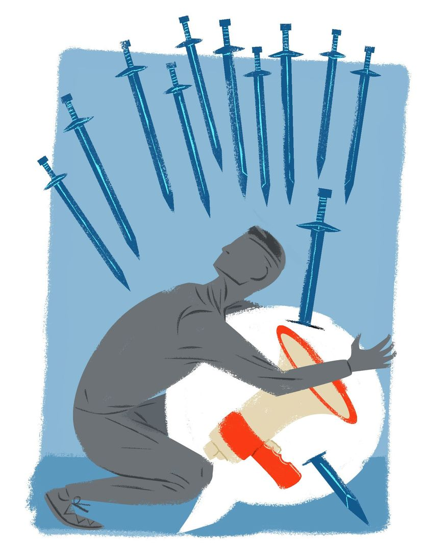 In Defense of Free Speech Illustration by Linas Garsys/The Washington Times