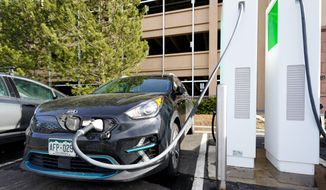 """President Biden wants 500,000 charging stations installed across the country to fuel electric cars that are """"made in America,"""" but the lack of domestically produced rare earth minerals required for such an endeavor would make the U.S. heavily reliant on China. (Associated Press)"""