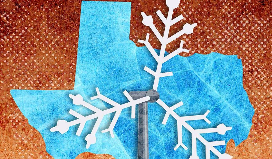 Texas Frozen Grid Illustration by Greg Groesch/The Washington Times