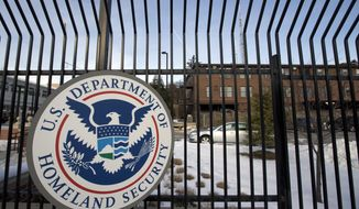 In this Feb. 25, 2015 file photo, the Homeland Security Department headquarters in northwest Washington. President Joe Biden has selected two former senior National Security Agency officials for key cyber roles in his administration.  Chris Inglis, a former NSA deputy director, is being nominated as the government's first national cyber director. Jen Easterly, a former deputy for counterterrorism at the NSA, has been tapped to run the Cybersecurity and Infrastructure Security Agency at the Department of Homeland Security. (AP Photo/Manuel Balce Ceneta, File)  **FILE**