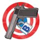Joe Biden infringing on second amendment and right to bear arms illustration by Linas Garsys / The Washington Times