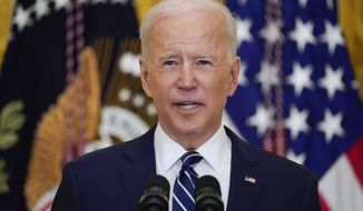 In this March 25, 2021, file photo, President Joe Biden speaks during a news conference in the East Room of the White House in Washington. (AP Photo/Evan Vucci, File)