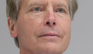 This Tuesday, April 13, 2021 booking photo provided by the Dallas County Sheriff's Office shows former Texas Lt. Gov.  David Dewhurst. Dewhurst was arrested on a family violence charge in Dallas and released from jail early Wednesday, April 14, after allegedly assaulting a woman. (Dallas County Sheriff's Office via AP)