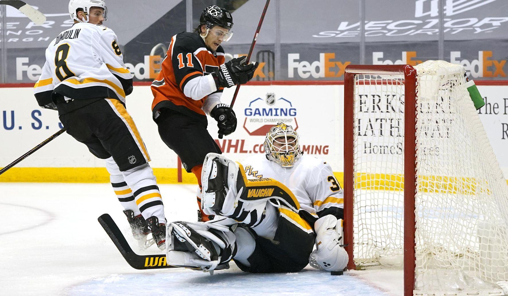 Giroux, Couturier score in shootout as Flyers edge Pens