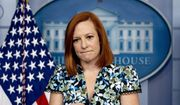 White House press secretary Jen Psaki takes a question from a reporter during a press briefing in the White House in Washington, Friday, April 16, 2021. (AP Photo/Andrew Harnik)