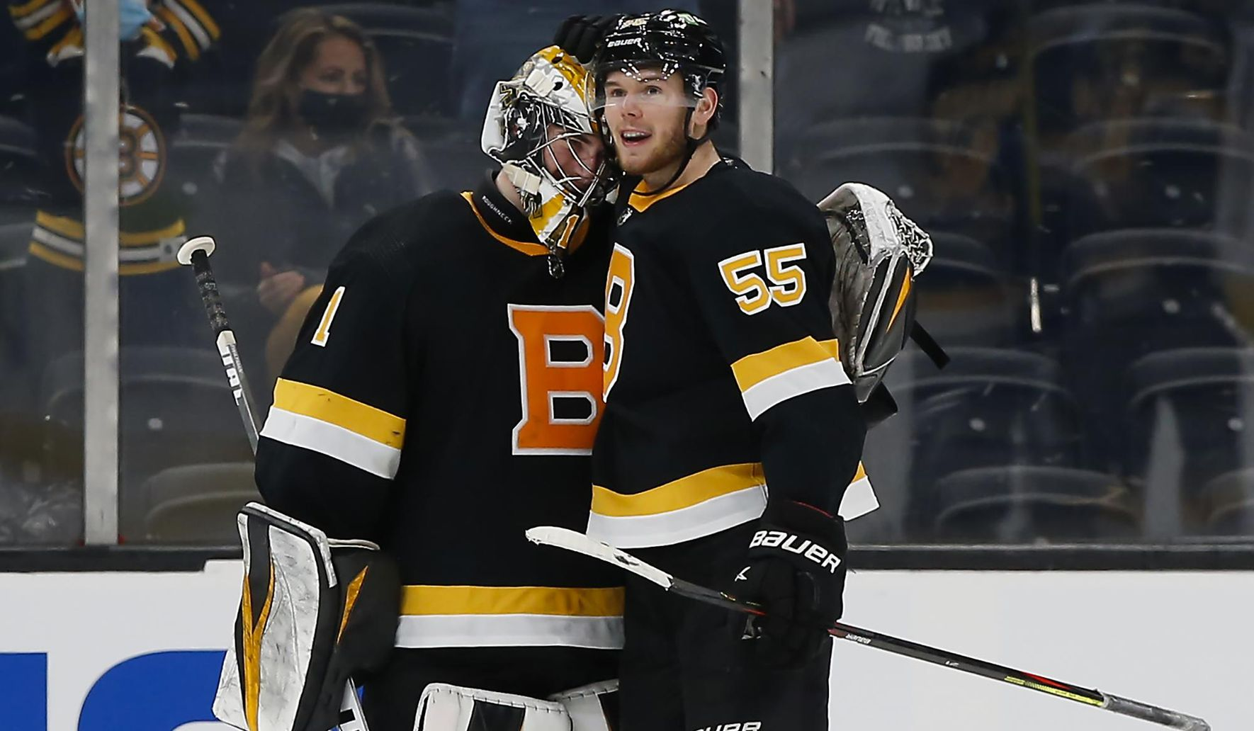 Hall, Swayman lift Bruins past Islanders 3-0