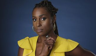 """FILE - This July 24, 2019 file photo shows Issa Rae, an executive producer of the HBO comedy series """"A Black Lady Sketch Show,"""" during the 2019 Television Critics Association Summer Press Tour in Beverly Hills, Calif. Rae is looking to find up-and-coming fashion, film, music and visual art creatives from underrepresented communities. She's teaming up with LIFEWTR, PepsiCo's bottled water product line and its """"Life Unseen"""" campaign.  (Photo by Chris Pizzello/Invision/AP, File)"""