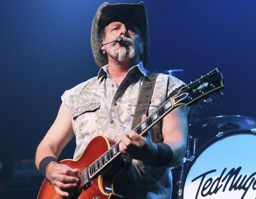 Ted Nugent performs at Rams Head Live in Baltimore on Aug. 16, 2013. (Photo by Owen Sweeney/Invision/AP, File)