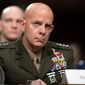 Gen. David H. Berger, Marine Corps commandant with an eye on China, plans to prepare for war with scouting and screening missions. (Associated Press)