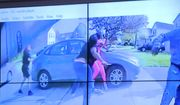 In an image from police bodycam video that the Columbus Police Department played during a news conference Tuesday night, April 20, 2021, a teenage girl, foreground, appears to wield a knife during an altercation before being shot by a police officer Tuesday, April 20, 2021, in Columbus, Ohio. Police shot and the girl just as the verdict was being announced in the trial for the killing of George Floyd. (Columbus Police Department via WSYX-TV via AP)