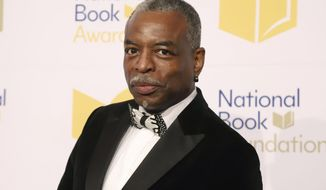 """LeVar Burton attends the 70th National Book Awards ceremony in New York on Nov. 20, 2019. Burton will serve as guest host on the game show """"Jeopardy!"""" (Photo by Greg Allen/Invision/AP, File)"""