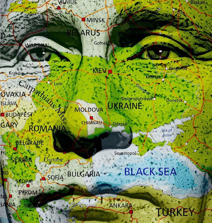 Putin Ukraine Strategy Illustration by Greg Groesch/The Washington Times
