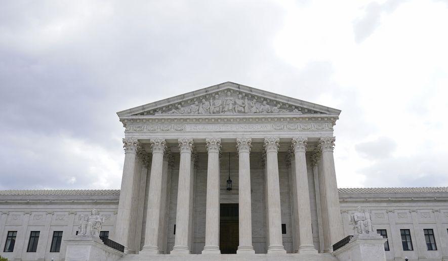 A view of the Supreme Court in Washington, Thursday, April 22, 2021. (AP Photo/Susan Walsh)