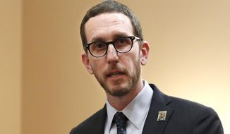 "FILE - In this Jan. 21, 2020, file photo, state Sen. Scott Wiener, D-San Francisco, speaks at a news conference in Sacramento, Calif. The California Senate approved a bill Thursday, April 22, 2021, that would allow opioid users a place to inject drugs in a supervised setting. ""Unlike the Trump administration, President Biden takes a science-based approach to addiction,"" said Wiener. ""We hope the administration will allow states to pilot evidence-based strategies like safe consumption sites."" (AP Photo/Rich Pedroncelli, File)"