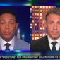 """CNN anchors Don Lemon and Chris Cuomo came to the defense of the Columbus, Ohio, police officer who fatally shot 16-year-old Ma'Khia Bryant this week, saying the officer had a """"duty"""" to protect any potential victims from the knife-wielding teen. (Screengrab via CNN)"""