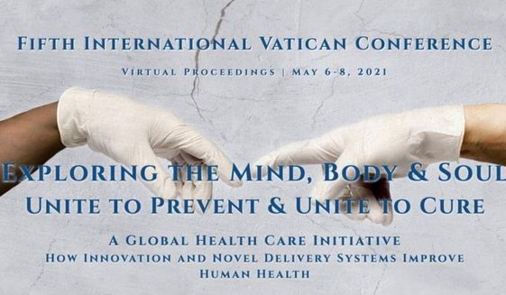 """Archbishop Carlo Maria Viganò, the Catholic Church's former Apostolic Nuncio, says an upcoming health conference at the Vatican is """"the umpteenth scandalous confirmation"""" that Pope Francis has become """"the servant of the New World Order,"""" April 20, 2021. (Image: vaticanconference2021.org promotional screenshot)"""
