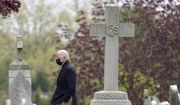 President Joe Biden departs after attending Mass at St. Joseph on the Brandywine Catholic Church, Saturday, April 24, 2021, in Wilmington, Del. Biden is spending the weekend at his home in Delaware. (AP Photo/Patrick Semansky) **FILE**