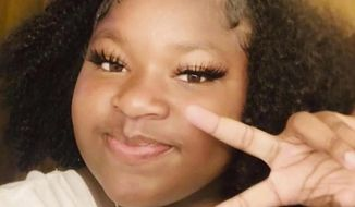 This undated selfie photo provided by family members Don Bryant and Paula Bryant shows Ma'Khia Bryant. The 16-year-old Bryant was shot and killed by police as she swung a knife at two other people on Tuesday, April 20, 2021, in Columbus, Ohio. (Ma'Khia Bryant/Don Bryant and Paula Bryant via AP)