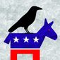 Illustration on the Democratic Party and Jim Crow law by Alexander Hunter/The Washington Times