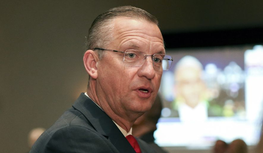 For Rep. Doug Collins attends an election night watch party in Buford, Ga., in this Tuesday, Nov. 3, 2020, file photo. Collins announced Monday, April 26, 2021, that he will not run for governor or U.S. Senate in Georgia in 2022. (AP Photo/Brett Davis, File)