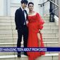 "Franklin High School senior Dalton Stevens poses in a prom dress that prompted then-VisuWell  CEO Sam Johnson to say the outfit made him look like an ""idiot,"" April 24, 2021. Mr. Johnson was ousted from his position at the Tennessee company within 48 hours. (Image: WGN-9 news Chicago, video screenshot)"