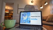 The login/sign up screen for a Twitter account is seen on a laptop computer Tuesday, April 27, 2021, in Orlando, Fla. (AP Photo/John Raoux)