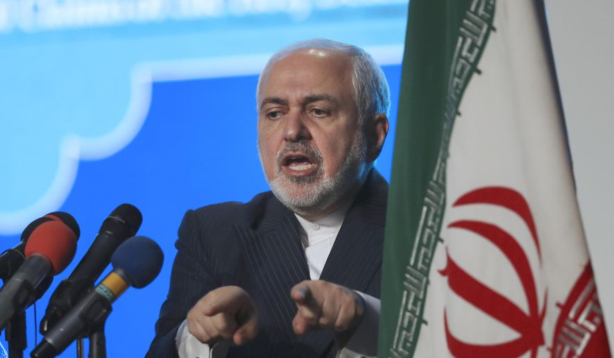 In this Feb. 23, 2021, file photo, Iran's Foreign Minister Mohammad Javad Zarif speaks at a conference in Tehran, Iran. (AP Photo/Vahid Salemi, File)