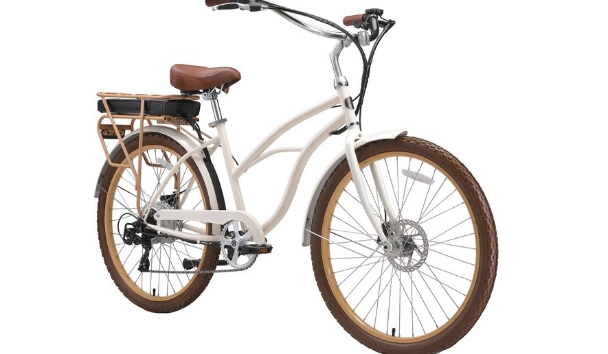 This photo shows the Around the Block electric cruiser bike from Sixthreezero.com. Keep the handmade cards, bouquets or breakfasts in bed coming this Mother's Day, but up your game in celebration of brighter days ahead with a store-bought gift. (sixthreezero via AP)