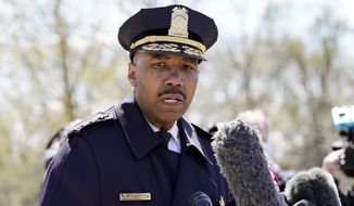 Washington Metropolitan Police Department Chief Robert J. Contee III speaks during a news conference in Washington. (AP Photo/Alex Brandon) ** FILE **