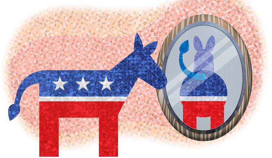 Democrats Oklahoma Donkey Illustration by Greg Groesch/The Washington Time