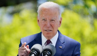 """President Biden is pushing Congress to pass the PRO Act, nullifying right-to-work laws. """"Send it to my desk so we can support the right to unionize,"""" he said. (Associated Press)"""