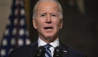 A recent editorial from Issues & Insights was critical of President Biden and his views on what should be considered patriotism. (Associated Press)