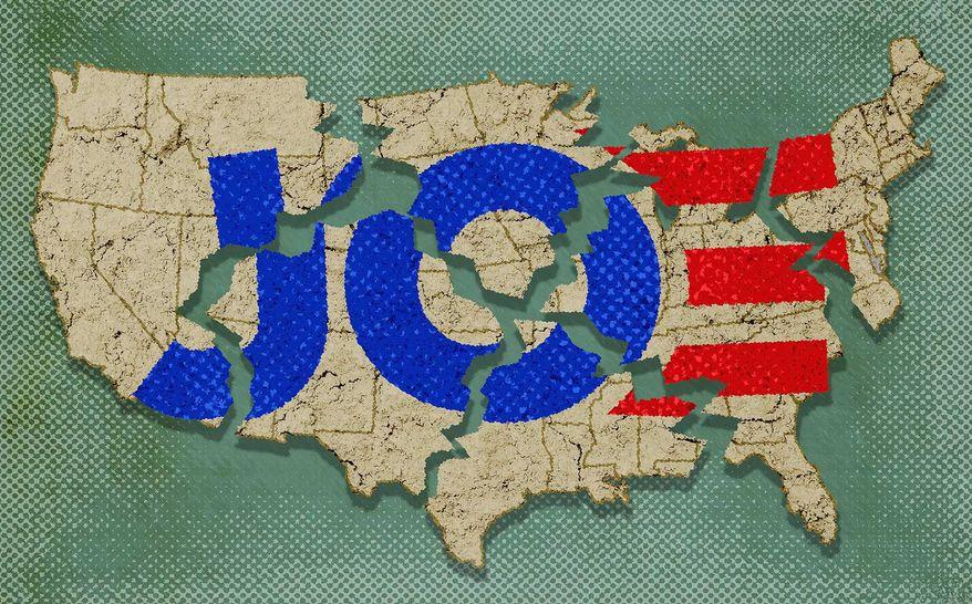 Biden's American Unity Illustration by Greg Groesch/The Washington Times