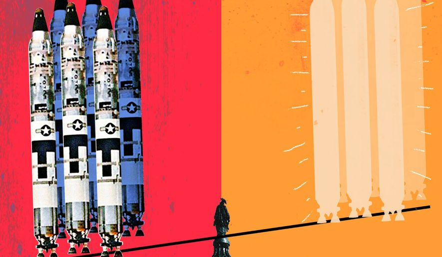 ICBM Deterrent Illustration by Linas Garsys/The Washington Times