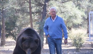 """California Republican John Cox casts himself as """"the beast"""" versus Gov. Gavin Newsom's """"beauty"""" in an ad released May 4, 2021. (Courtesy of the Cox campaign)"""