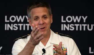 """Adm. Philip S. Davidson, as Indo-Pacific Command chief, organized a letter in early 2020 asking for """"ammunition in the ongoing war of narratives."""" (Associated Press/File)"""