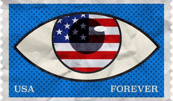 Perpetual unconstitutional spying on ordinary Americans Illustration by Greg Groesch/The Washington Times